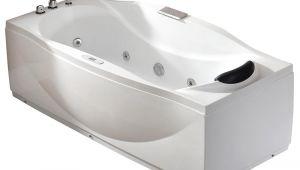 6 Ft Jetted Bathtub 6 Ft Left Drain Acrylic White Whirlpool Bathtub W Fixtures