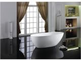 60 In Freestanding Bathtub Shop Eviva Sarah White Acrylic 60 Inch Freestanding