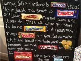 65 Year Old Birthday Party Decorations Old Age Over the Hill 60th Birthday Card Poster Using Candy Bars