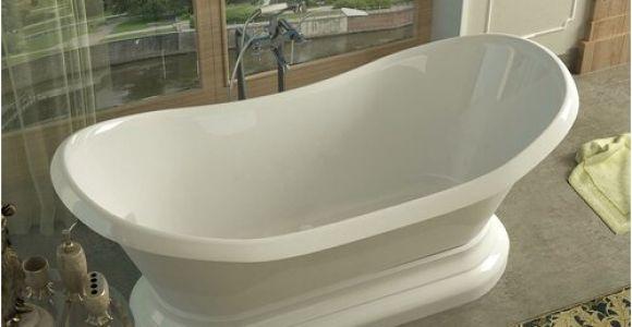 "70 Freestanding Bathtub Spa Escapes Grace 70 75"" X 32 75"" Oval Freestanding soaker"