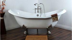 72 Inch Bathtubs for Sale Shop Double Slipper 72 Inch Cast Iron Clawfoot Bathtub