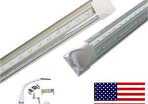 8ft Led Light Fixture 8ft Led Lights V Shaped Double Sides Tube Fluroescent Light Bulb Led