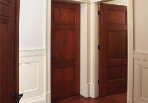 8ft solid Wood Interior Doors Custom 3 Panel Mahogany Interior Door with Craftsman Style Painted