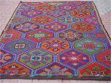 8×6 Rug Vintage Turkish Kilim Rug Carpet Cicim Embroidered Handwoven