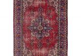 9×12 Red oriental Rugs Ecarpetgallery Hand Knotted Melis Vintage Red Wool Rug 6 3 X 9 5