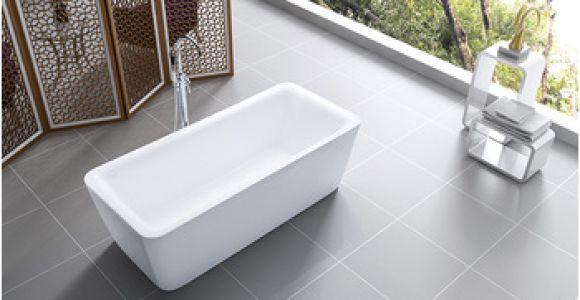 Acrylic Bathtubs Materials Baolong Rectangle Freestanding Bathtub Use Good Quality