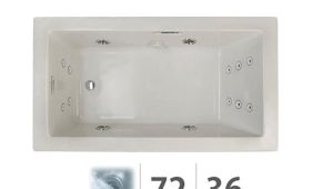 "Acrylic Jetted Bathtub Shop Jacuzzi Ela7236wrl2hx Elara 72"" X 36"" Acrylic"