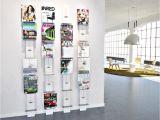 Acrylic Wall Mounted Brochure Rack Decoration Single Pocket Wall Mount Magazine Holder Business Flyer