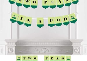 African American Two Peas In A Pod Baby Shower Decorations Amazon Com Twins Two Peas In A Pod Baby Shower Bunting Banner