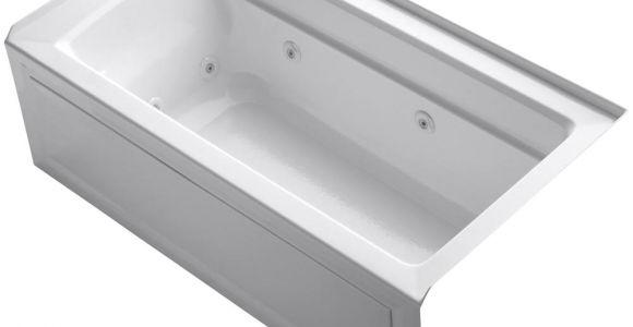 Alcove Bathtub Lengths Kohler Archer 5 Ft Acrylic Right Drain Rectangular Alcove