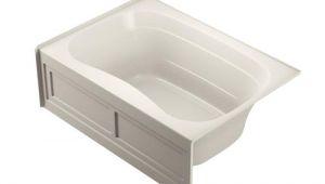 Alcove Bathtub with Center Drain Jacuzzi Nicola 60 In Oyster Acrylic Rectangular Center