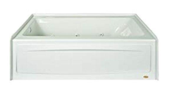 """Alcove Bathtub with Jets Jacuzzi J1s6032wlr1xxw White Signature 60"""" Acrylic"""
