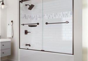Alcove Bathtub with Surround Delta Upstile Semi Customizable Shower Collection – Bath