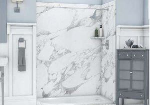 Alcove Bathtub with Surround Glue Up Shower Walls & Surrounds Showers the Home Depot