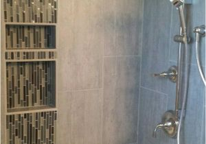 Alcove Bathtub with Surround Small Alcove Shower Tub with Malta Gray Porcelain Tile
