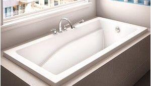 Alcove soaking Bathtub with Center Drain Alcove Caprice Bathtub