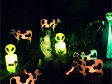 Alien Halloween Decorations Alien Crash Scene Using Blowmolds Aliens Lighthearted Halloween