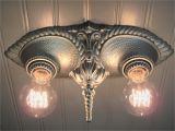 Antique 1920 Ceiling Light Fixtures Farmhouse Light Fixture Vintage 1920s Art Deco Flush Etsy