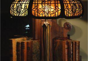Antique Tiffany Lamp Parts Empire Lamp Co Trellis Morning Glory Slag Glass Lamp Lit Up