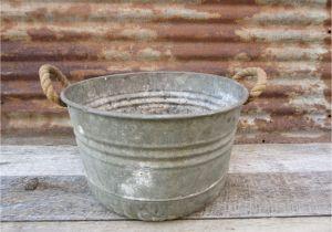 Antique Tin Bathtubs for Sale Antique Metal Galvanized Wash Bin Tub Rope Handles