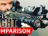 Ar15 Tactical Light Ar 15 Flashlight Comparison Streamlight Vs Surefire Youtube