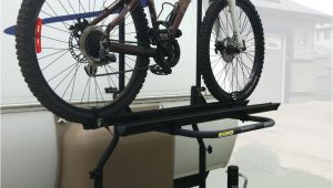 Arvika Airstream Bike Rack Arvika 2 Bike Rack On Travel Trailer with Bike Loaded Left View