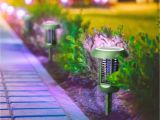 As Seen On Tv Outdoor Light solar Powered Uv Bug Zapper Led Garden Lamp Bug Zapper Garden