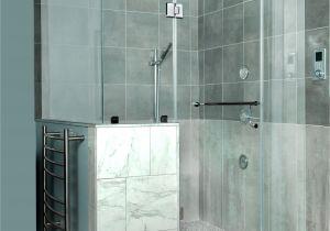 Atlantic Shower Door Custom Frameless Shower Corner Shower Door to Ceiling with D Handle