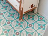B Q Stick Down Flooring Half Bath Redo the Happiest Floors On the Block Pinterest