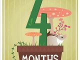 Baby 4 Months Bathtub Milestone Baby Cards