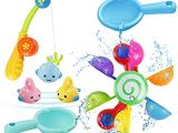Baby Bath Tub for 2 Years Old Nashrio Baby Bath toys Kids Bath Tub Play Water toy Set
