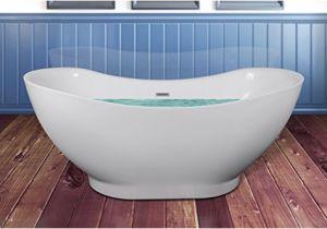 """Baby Bath Tub Qatar Akdy 67"""" Bathroom Oval White Color Freestanding Acrylic"""