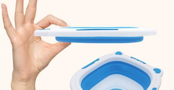 Baby Bath Tub with Feet Folding Tub Children Folding Bath Baby Washbasin Small