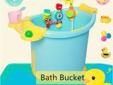 Baby Bath Tub with Pail Children Baby Bath Bucket Contrast Color Bath Tub Plastic