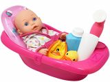 """Baby Bath Tub with Sprayer Super Cute Baby Doll Bathtub Set Featuring 12"""" All Vinyl"""