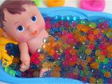 Baby Bathtub Colors Learn Colors Baby Doll Bath Time orbeez Shower Bathtub