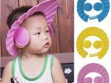 Baby Bathtub Hat Baby Shower Care Shampoo Cap Bath Protect Ear Wash Hair