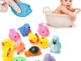 Baby Bathtub Head Float 13 Pcs Cute Baby toy Bath toys Squirt Kids Float Water Tub