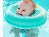 Baby Bathtub Neck Float Cute Cartoon Baby Swim Pool Accessories Neck Ring Tube