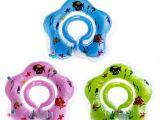 Baby Bathtub Neck Ring Inflatable Hot Baby Newborn Neck Float Ring Bath Safety