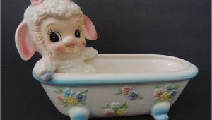 Baby Bathtub Planter Vintage 1950 S Planter Little Lamb In A Bathtub Rare