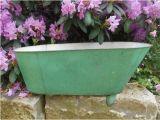 Baby Bathtub Prop Antique Tin Baby Bathtub Bath Tub Metal Green by Swansdowne