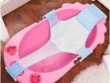 Baby Bathtub with Hammock Newborn Baby Bathing Seat Support Net Sling Shower Mesh