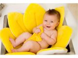 Baby Bathtub with Insert Canary Yellow Plush Sink Insert & Washcloth Set $39 99