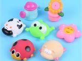 Baby Bathtub with Sprayer Baby Bath toys soft Rubber Water Spray Colorful Animals