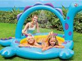 Baby Bathtub with Sprayer Portable Inflatable Dinosaurs Baby Bath Water Spray Kids