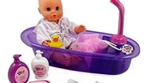 "Baby Doll Bathtub Set Little Baby 13"" Bathtime Doll Bath Set for Kids Amazon"