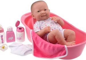"Baby Doll Bathtub toy Amazon Jc toys 14"" La Newborn Deluxe Bath Set Baby"