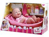 """Baby Doll Bathtub toy Jc toys La Newborn 14"""" Deluxe Bath Time Fun Set"""
