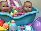 Baby Doll Bathtubs Twin Baby Dolls Bath Time Pretend Play Feeding Potty Time